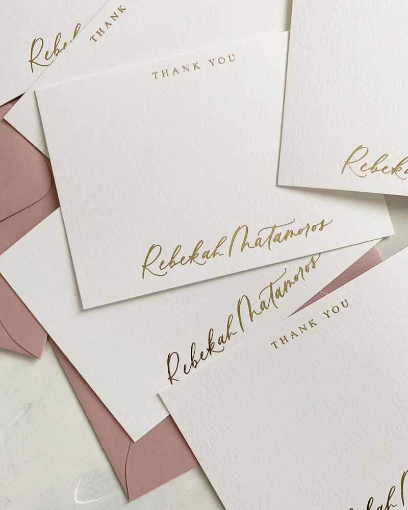 Custom Calligraphy Note Cards