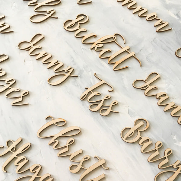 Personalized Laser Cut Wooden Place Cards