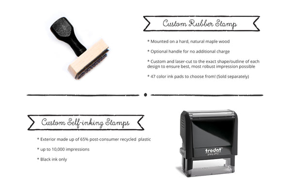 Thick Elegant Calligraphy Address Stamp