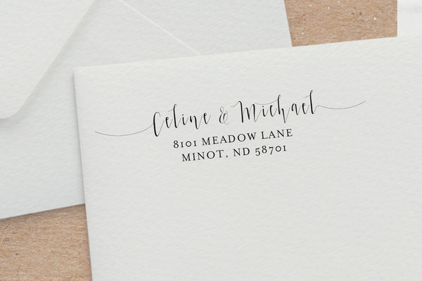 Modern Calligraphy Address Stamp