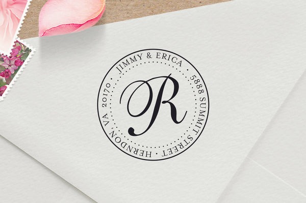 Luxurious Round Address Stamp