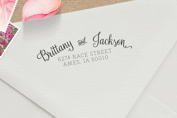 Gorgeous Modern Calligraphy Address Stamp