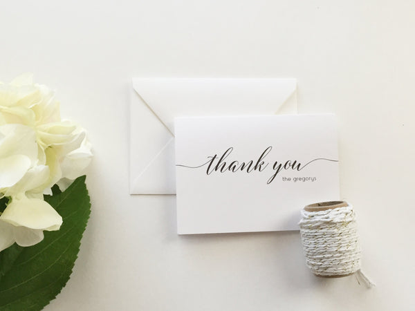 Wedding Thank You Cards (set of 10)