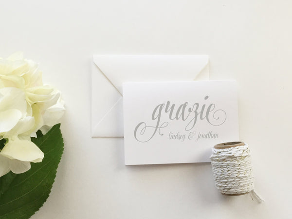 Grazie Wedding Thank You Cards (set of 10)