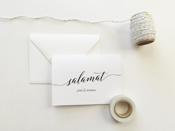 Salamat Wedding Thank You Cards (set of 10)