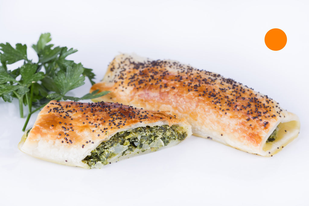 Spinach & Ricotta Rolls (Uncooked) - Loose fill* (box of 22 - GST free)