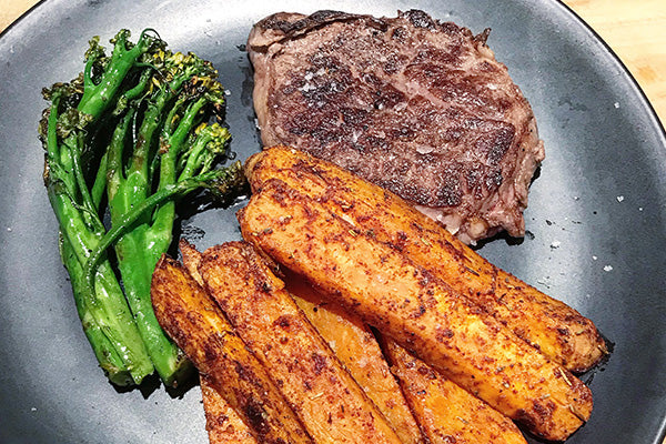 Steak & Sweet Potato Wedges