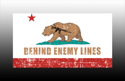 BEHINE ENEMY LINES California full color sticker