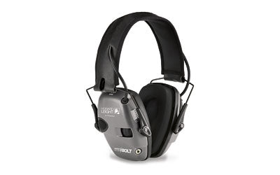 HOWARD LEIGHT IMPACT SPORT BOLT ELECTRONIC EARMUFFS GRAY