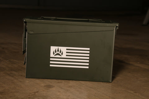 SOUTHPAW TACTICAL FLAG STICKER - WHITE