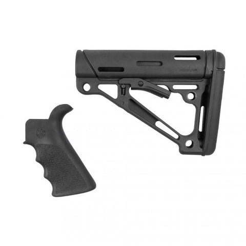 HOGUE AR15 STOCK KIT W/ RUBBER OVERMOLD GRIP (MILSPEC)