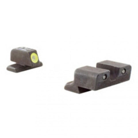 TRIJICON GLOCK HD NIGHT SIGHT SET - YELLOW FRONT OUTLINE - MODEL 17 / 17L / 19 / 22 / 23 / 24 / 26 / 27 / 33 / 34 / 35 / 38 / 39