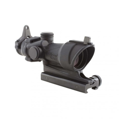 Trijicon ACOG 4x32 Scope with Amber Center Illumination for M4A1 includes Flat Top Adapter, Backup Iron Sights and Dust Cover