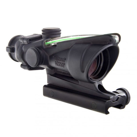 TRIJICON ACOG 4X32 SCOPE, DUAL ILLUMINATED GREEN CHEVRON .223 BALLISTIC RETICLE W/ TA51 MOUNT RIFLESCOPE