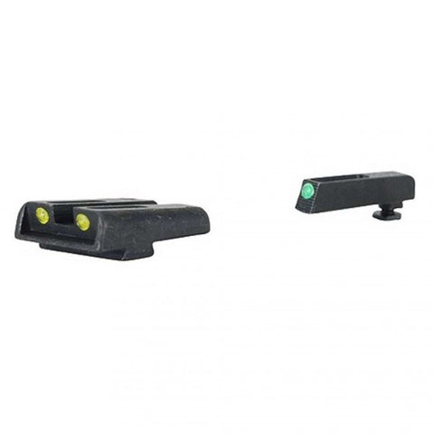 TRUGLO BRITE•SITE™ TFO™ (GREEN FRONT/YELLOW REAR) - GLOCK LOW - MODEL 17 / 17L / 19 / 22 / 23 / 24 / 26 / 27 / 33 / 34 / 35 / 38 / 39