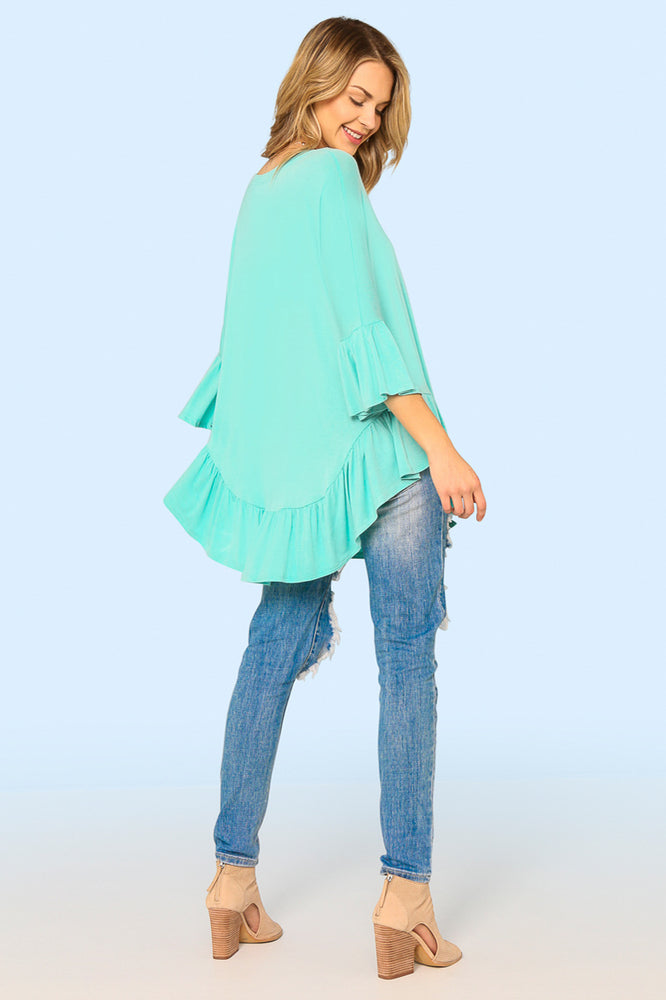 Genevieve Bell-Sleeve Top
