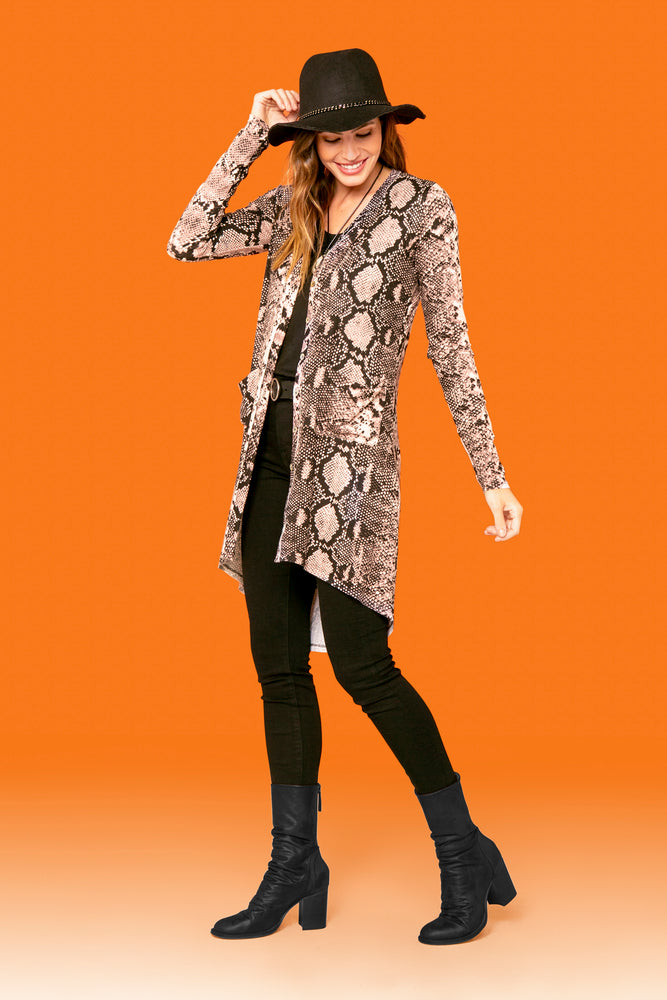 Allie Snake Cardigan