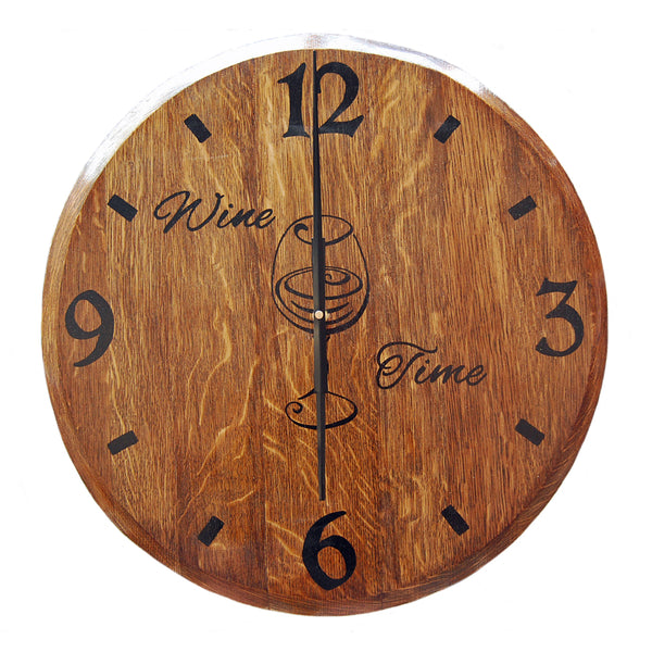 Clock - Hand Painted Wine Time