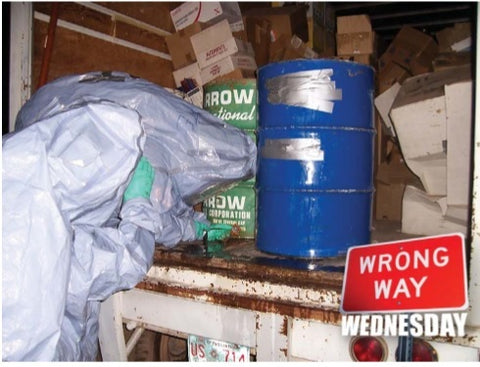 Wait.. did you really duct tape your 55 gallon drums to stop leakage?