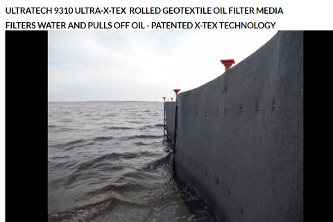 Ultra Tech X-Tex's Oil Blankets for green oil spill clean up