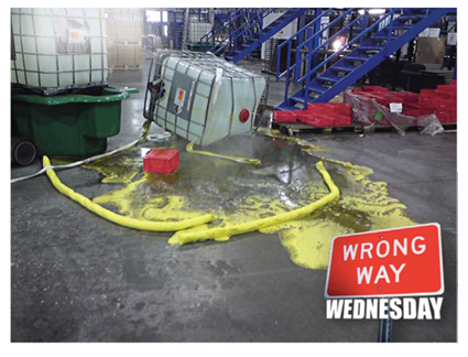 IBC Spill Pallet - Spill Containment - What not to do