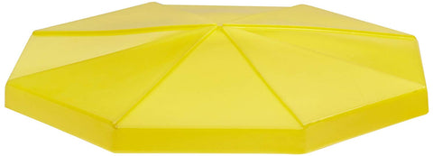 "UltraTech 0471 Polyethylene Ultra Universal Funnel with Spout, 6 Gallon Capacity, 25"" OD x 6"" Height, Yellow"