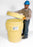 *Ultra Overpack Plus Wheeled Screw Lid Containment Drum, Yellow