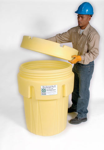UltraTech 0582 polyethylene ultra overpack plus 65 gallonlon capacity 5 year warranty yellow
