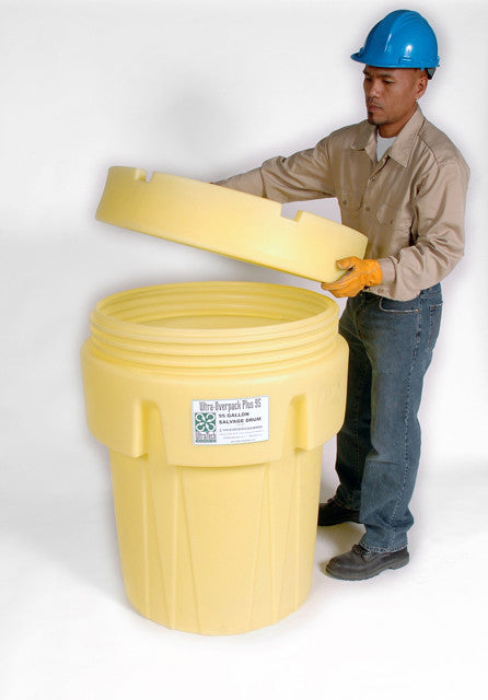 0592 Ultra Openhead Salvage Drum, 30 Gallon, Screw On Lid, Yellow
