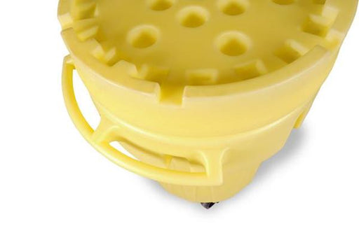 0588 Ultra Overpack Plus Lid For 95 Gallon Salvage Drum, Screw On, Yellow