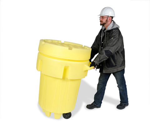 UltraTech 0584 Ultra-Wheeled Overpack, 95 Gallon Capacity, 5 Year Warranty, Yellow