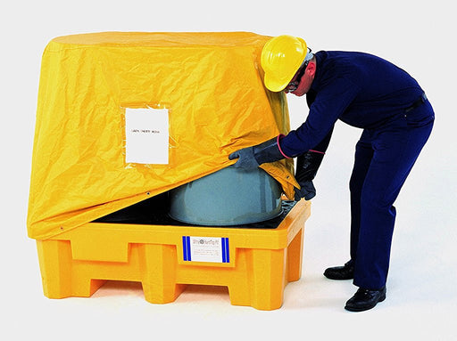 "1016 Pull Over Cover, 24"" Length x 12"" Width x 8"" Height, Yellow, For P2 Spill Pallet"