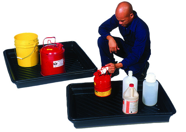 "1033 Utility Tray, 30 Gallon Capacity, 52-1/4"" Length x 33-3/4"" Width x 5"" Height, Black"
