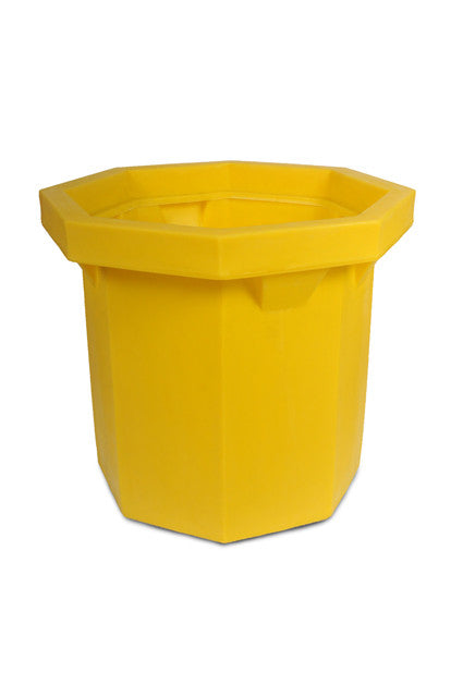 1040 Flat Bottom Ultra-Spill Collector without Drain, 66 Gallon Capacity, 5 Year Warranty, Yellow