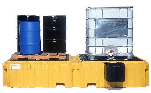 1145 Ultra Twin IBC Spill Pallet with Drain