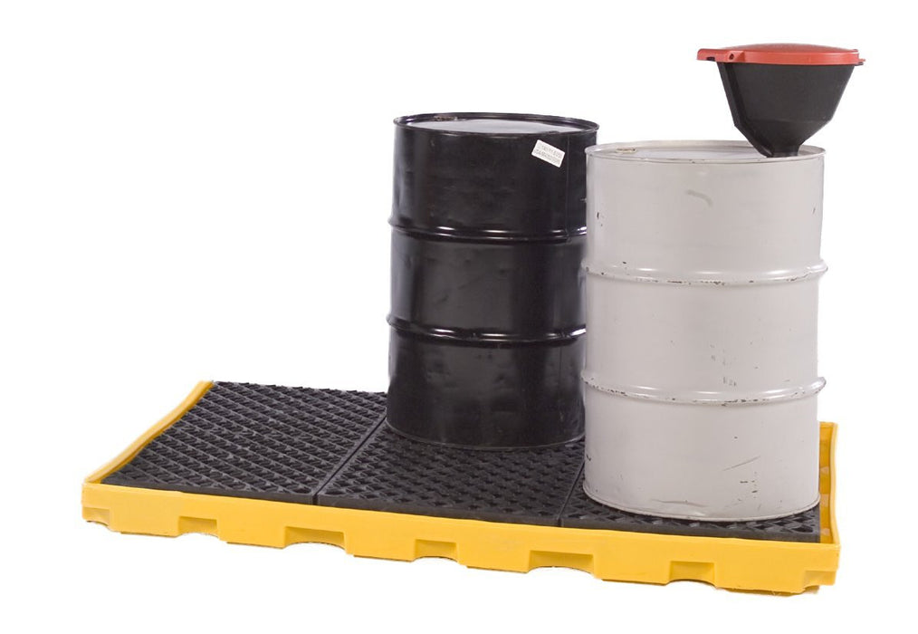 1175 Polyethylene P6 Ultra-Spill Deck with 6-Drum, 9000 lbs Capacity, 5 Year Warranty, Yellow