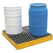 1345 Ultra Spill Pallet Flexible, 2-Drum With Drain, 1,200 lb Capacity