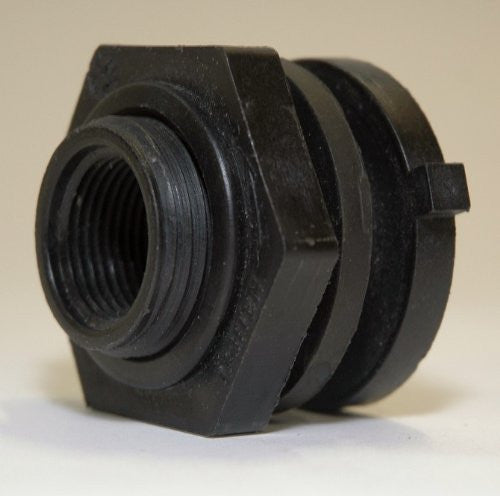 "1473 Fluorinated Bulkhead Fitting, 3/4"" Size, For Ultra-Spill Deck Fluorinated Models, 5 Year Warranty"