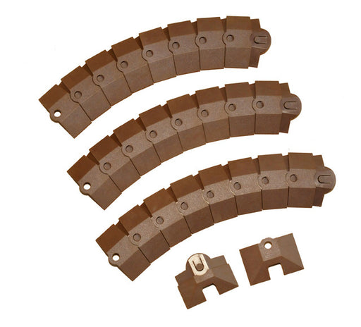 1805 Ultra-Sidewinder Cable Protection System, 1' Extension, 12 Length x 3 Width x 3/4 Height, Brown, Small