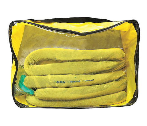 Spilfyter 211002 Grab & Go Hazmat Large Zipper Bag Spill Kit, 13 Gal