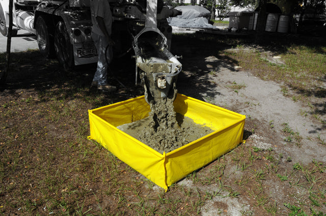 "3512 Ultra-Concrete Washout Berm Sump, 139 Gallon Capacity, 48"" Length x 48"" Width x 14"" Height"