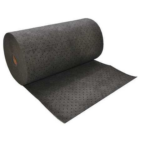"Spilfyter DB-95 32"" x 300' Standard Universal Gray Perfed Absorbent Roll (1 Bag)"