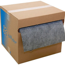 "Spilfyter DB-914 Universal Sorbent Spilhyder All-in-One Medium Weight Roll with Coverstock, 150' Length x 16"" Width, Gray"
