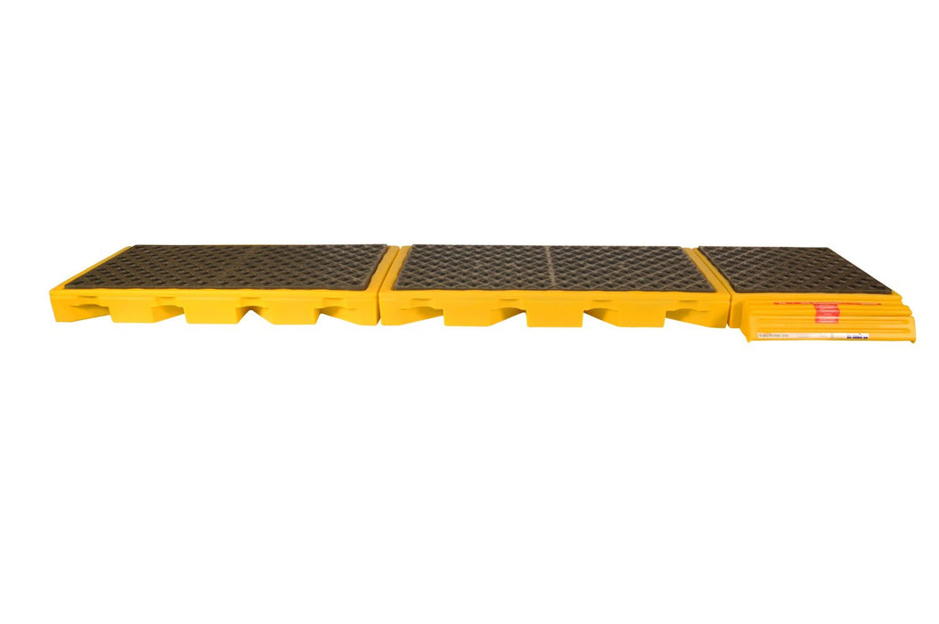 2333 Ultra InLine Spill Deck with 5-Drum, 7500 lbs Load Capacity, 5 Year Warranty, Yellow