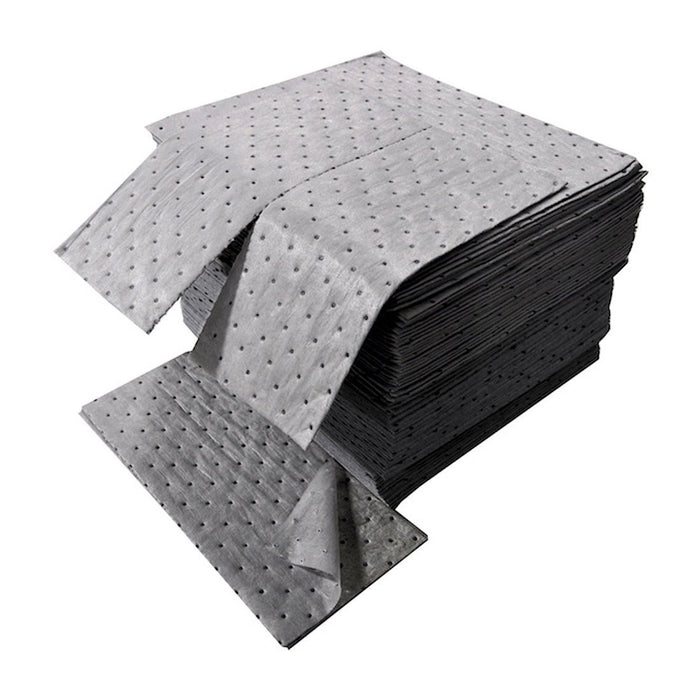 "DS-72 Universal Sorbent Spilhyder SMS Medium Weight Pad with Coverstock, 18"" Length x 16"" Width, Gray (Box of 100)"