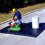 "Custom 8390 Foam Wall Copolymer Ultra-Containment Berm, 26' Length x 10' Width x 2"" Height"