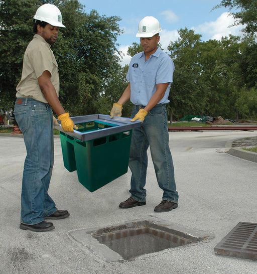 "9870 HydroKleen Flat Frame Advanced Catch Basin Filter, For 20"" - 25"" Drains, Green"
