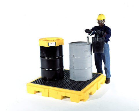 UltraTech 9631 Ultra Spill Pallet Plus P4, 4-Drum with Drain