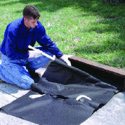 "9239 Polypropylene Geotextile Ultra-Drain Oil and Sediment Guard Plus Model with Curb-Insert Style, For 24"" - 42"" Curb Inlets"