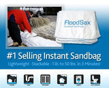 "FloodSax Sandless Sandbag Absorbent Flood Barriers, 19"" x 20"""
